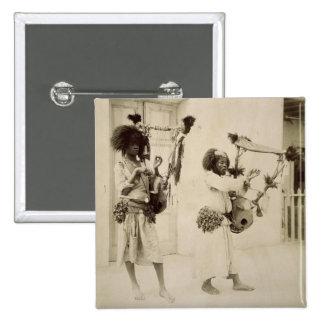 Nubian Musicians (sepia photo) 15 Cm Square Badge