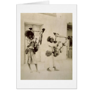 Nubian Musicians (sepia photo) Greeting Card