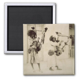 Nubian Musicians (sepia photo) Magnet