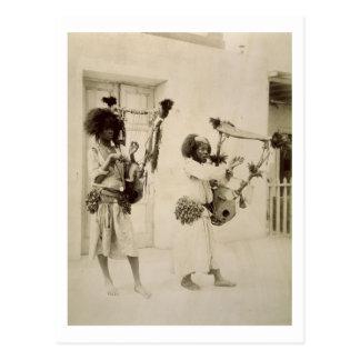Nubian Musicians (sepia photo) Postcard
