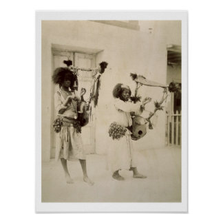 Nubian Musicians (sepia photo) Poster