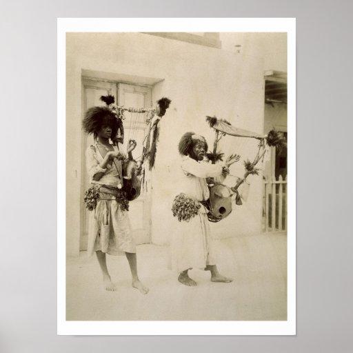 Nubian Musicians (sepia photo) Print