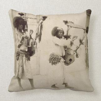 Nubian Musicians (sepia photo) Throw Cushions