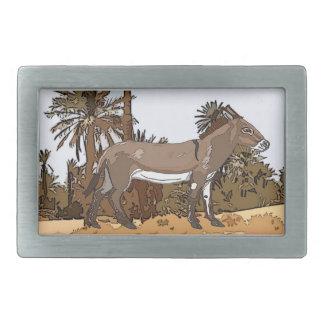 Nubian Wild Donkey (Equus africanus africanus) Belt Buckle