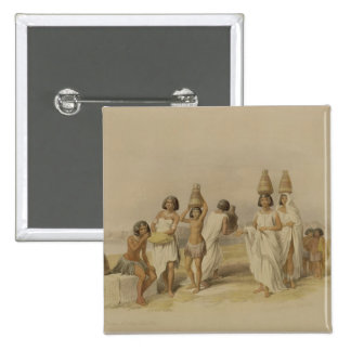 """Nubian Women at Kortie on the Nile, from """"Egypt an 15 Cm Square Badge"""