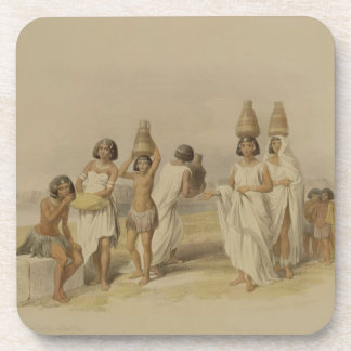 """Nubian Women at Kortie on the Nile, from """"Egypt an Drink Coasters"""