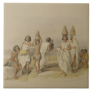 """Nubian Women at Kortie on the Nile, from """"Egypt an Large Square Tile"""