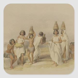 "Nubian Women at Kortie on the Nile, from ""Egypt an Square Sticker"