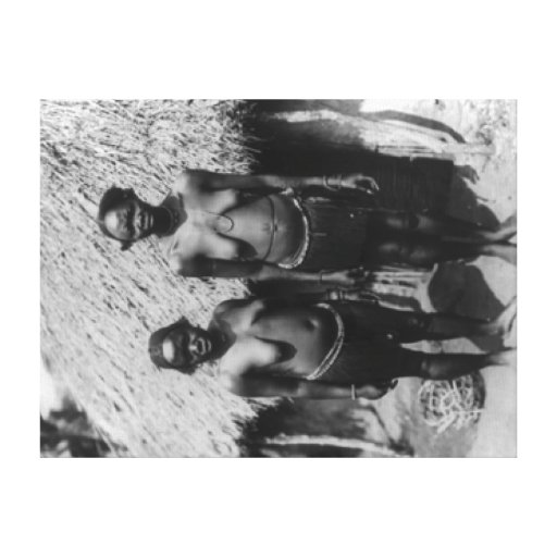 Nubian Women Standing in front of Hut Photograph Canvas Prints