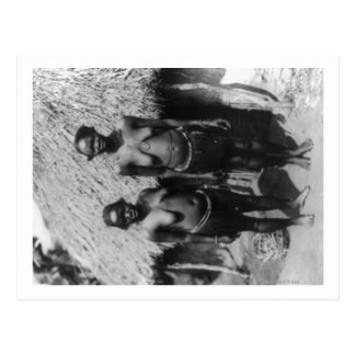 Nubian Women Standing in front of Hut Photograph Postcard