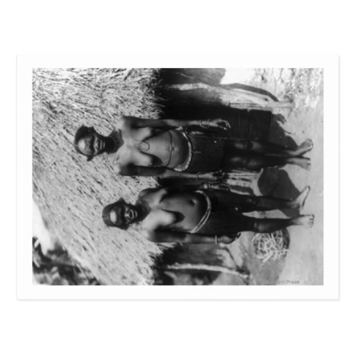 Nubian Women Standing in front of Hut Photograph Postcards