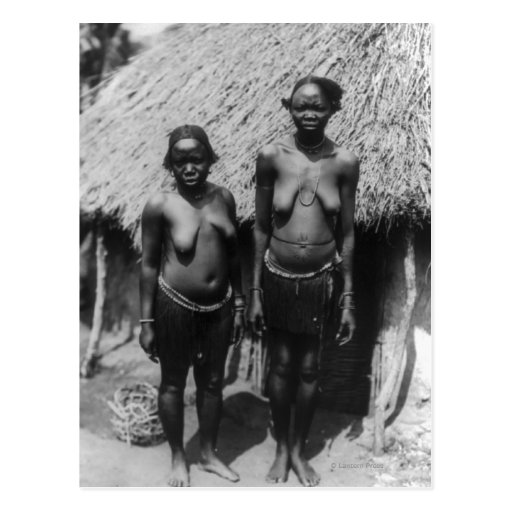 Nubian Women Standing in front of Hut Postcards