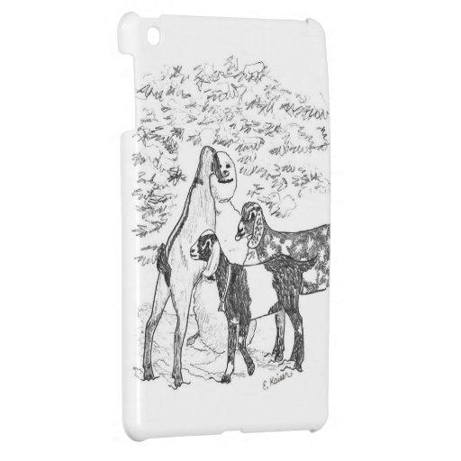 Nubians & Snowman iPad Mini Cover