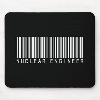 Nuclear Engineer Bar Code Mouse Pad