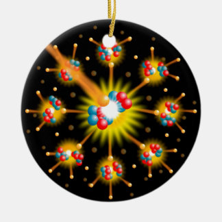 Nuclear Fission Round Ceramic Decoration