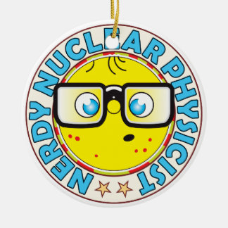 Nuclear Physicist Nerdy Christmas Ornament