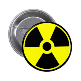 Nuclear Radiation Symbol Radioactive Symbol 6 Cm Round Badge