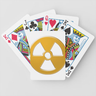 Nuclear Warning Bicycle Playing Cards