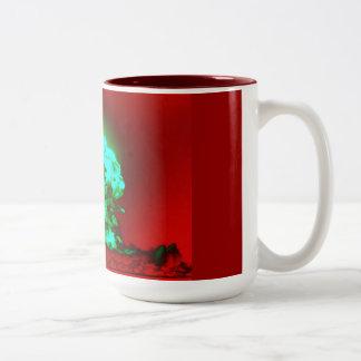 nucler radation Two-Tone mug