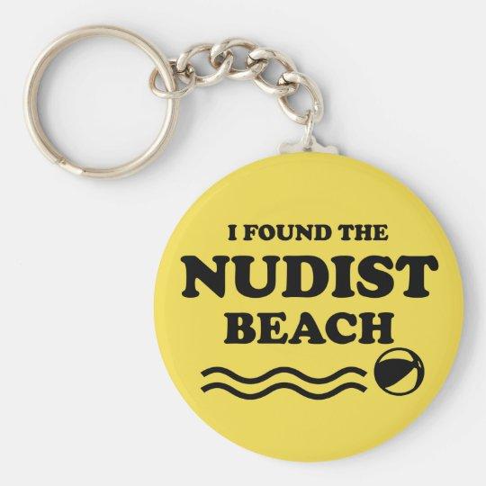 Nudist beach key ring