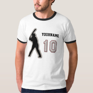 Number 10 Hitter Uniform - Cool Baseball Stitches T-Shirt