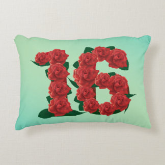 Number 16 16th birthday or anniversary Pillow
