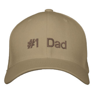 Number 1 Dad Embroidered Hat