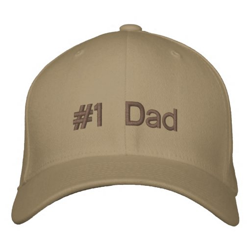 Number 1 Dad Embroidered Hats