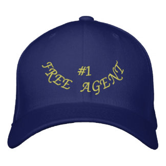 Number 1 Free Agent Embroidered Hat