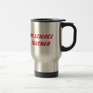 Number 1 science teacher appreciation custom name stainless steel travel mug
