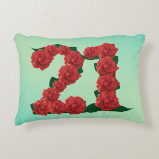 Number 21 21st birthday or anniversary Pillow