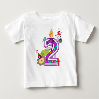 number 2 second birthday t-shirt for kids