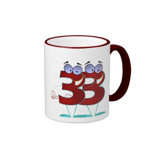 Number 33 mug