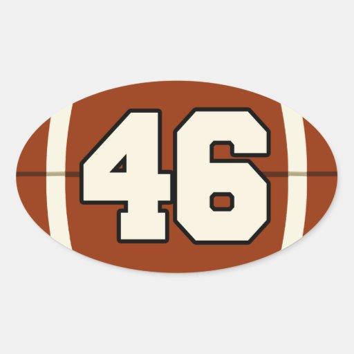 Number 46 Football Sticker | Zazzle
