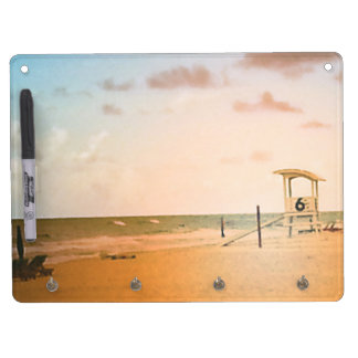 Number 6 Lifeguard Tower Dry Erase Board With Key Ring Holder
