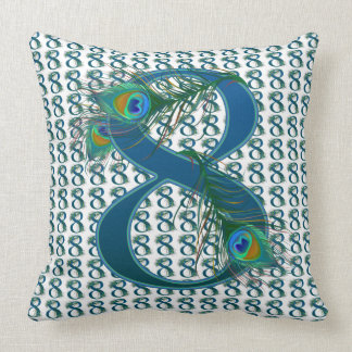 Number 8 / 8rh Anniversary numbered gifts Throw Pillow