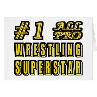 Number One All Pro Wrestling Superstar Greeting Card