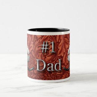 Number One Dad Two-Tone Coffee Mug