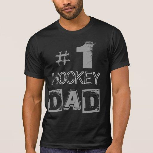 Number One HOCKEY Dad Grunge Raglan T-Shirt