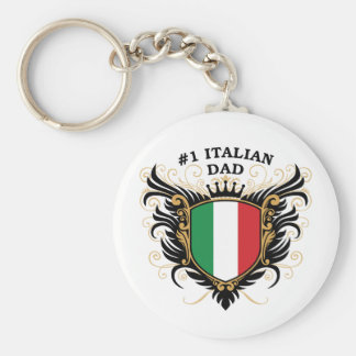 Number One Italian Dad Basic Round Button Key Ring