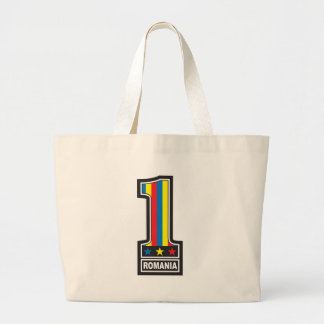 Number One Romania Large Tote Bag