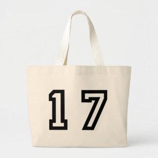 Number Seventeen Large Tote Bag