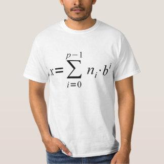 Number System Conversion Formula T-Shirt