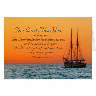Numbers 6 24-26 The Lord bless you and keep you Card