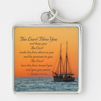 Numbers 6 24-26 The Lord bless you and keep you Key Ring
