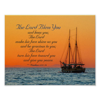 Numbers 6 24-26 The Lord bless you and keep you Poster