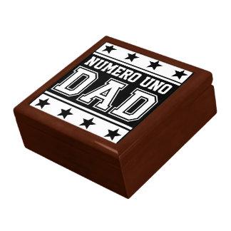 Numero Uno Dad Large Square Gift Box