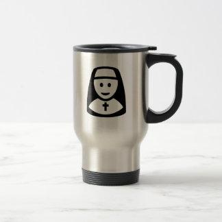 Nun head travel mug
