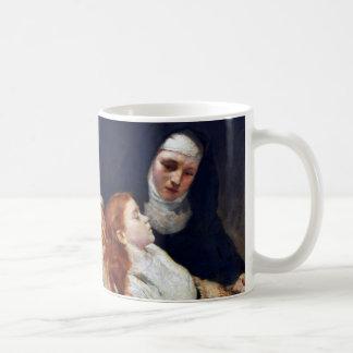 Nun with a sick girl coffee mug