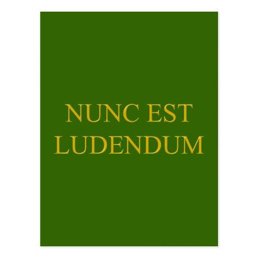 nunc ludendum latin est latin post cards